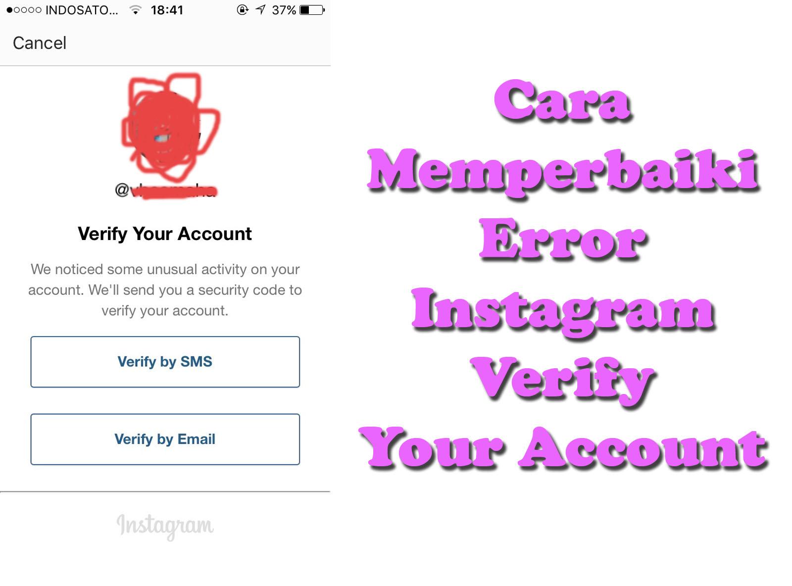 Cara Memperbaiki Error Instagram Verify Your Account Ardnesia