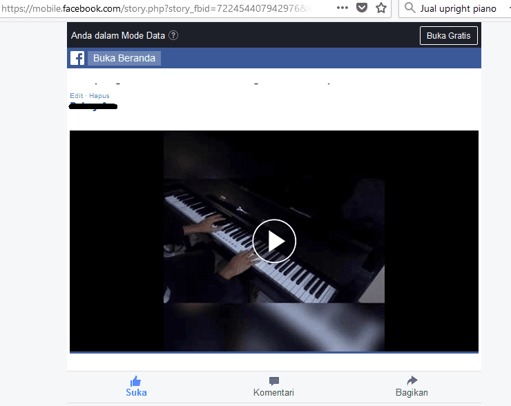 Cara simpan video FB Laptop