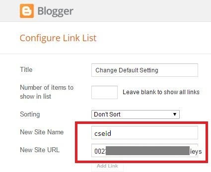 Add cse id in snews blogger theme
