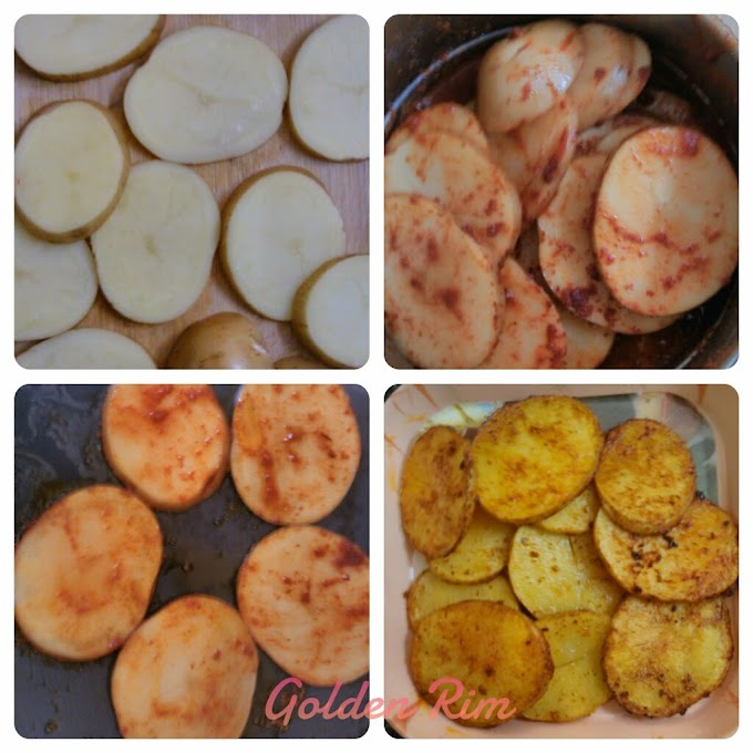 Easy and Quick Spiced Potato slices