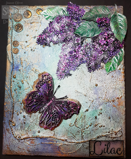 Sheena Douglass, Perfect Partners, Lilac and Butterfly Canvas