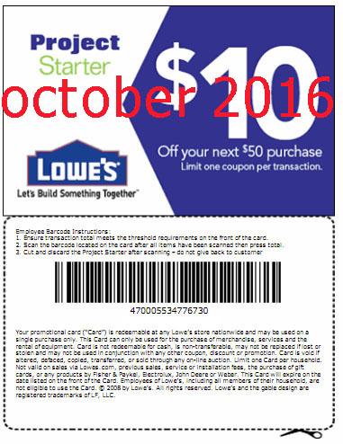 Lowes coupons printable november 2018