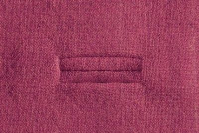 Photograph of a bound buttonhole