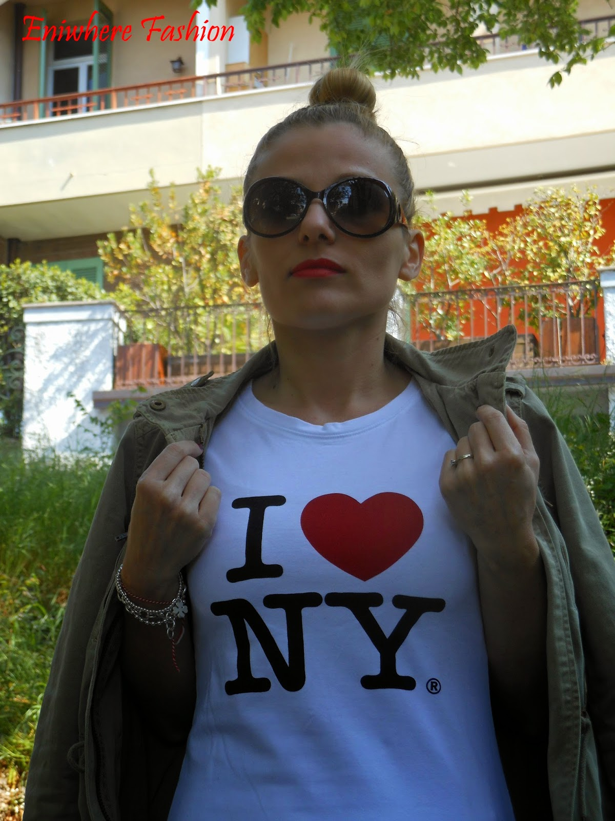 Eniwhere Fashion - I love NY - Converse rosse