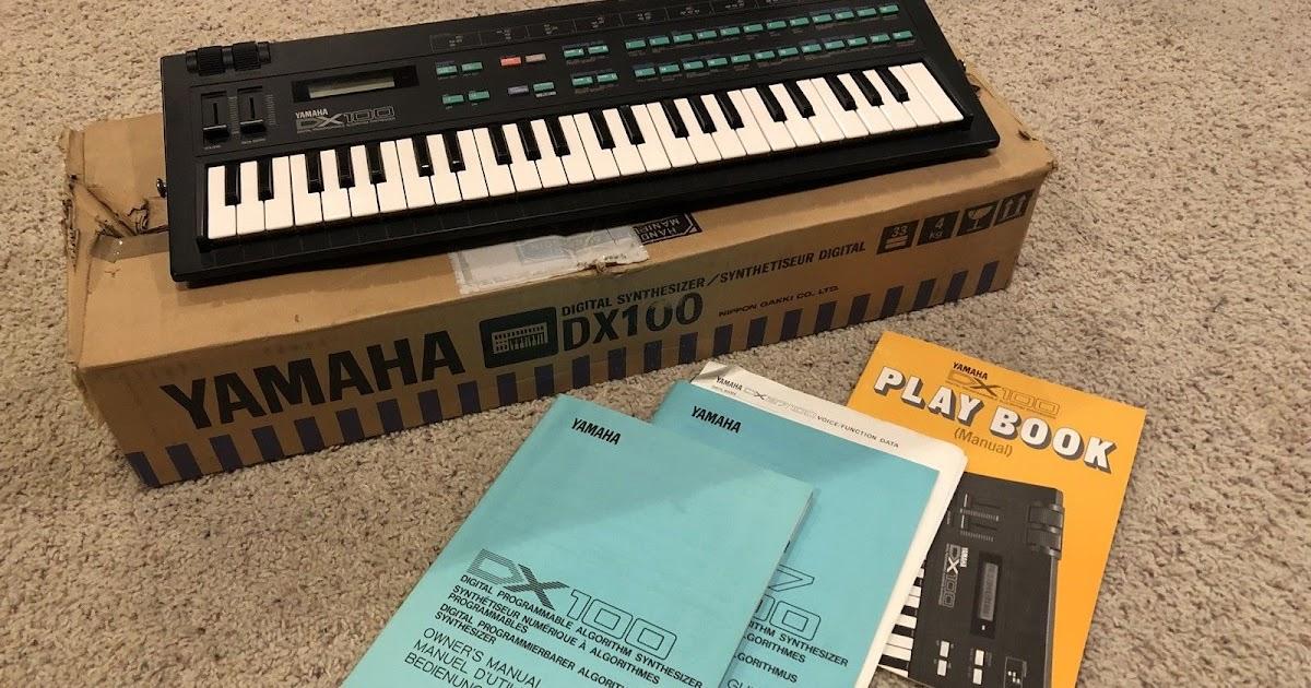 Yamaha DX100 Keyboard Synthesizer w/ Original Box & Manuals