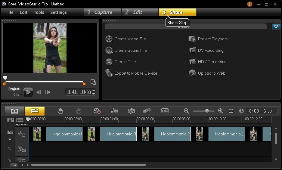 Cara Menyimpan Hasil Project Corel Video Studio 3
