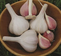 Photo of hardneck garlic bulbs in a bowl. https://trimazing.com/