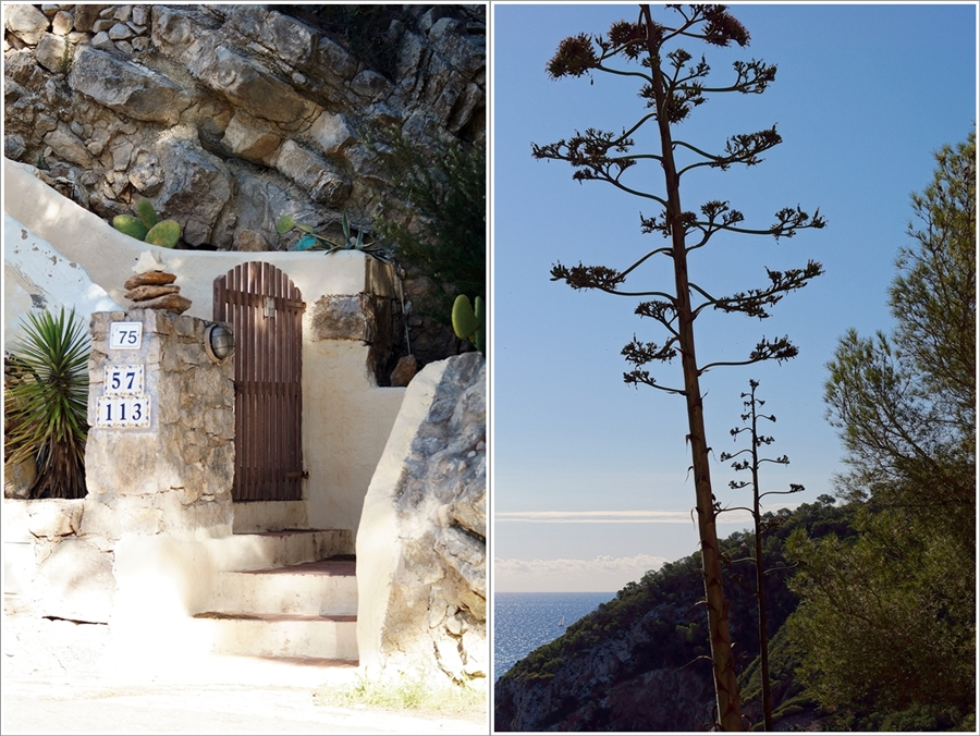 Blog + Fotografie by it's me fim.works - Collage La Isla Blanca Ibiza, Cala Llonga, Treppenaufgang