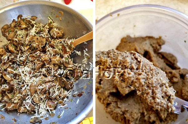Before and after processing the mixture