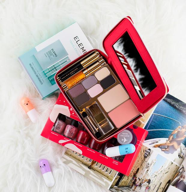 OPI nail polish, makeup case and eye masks