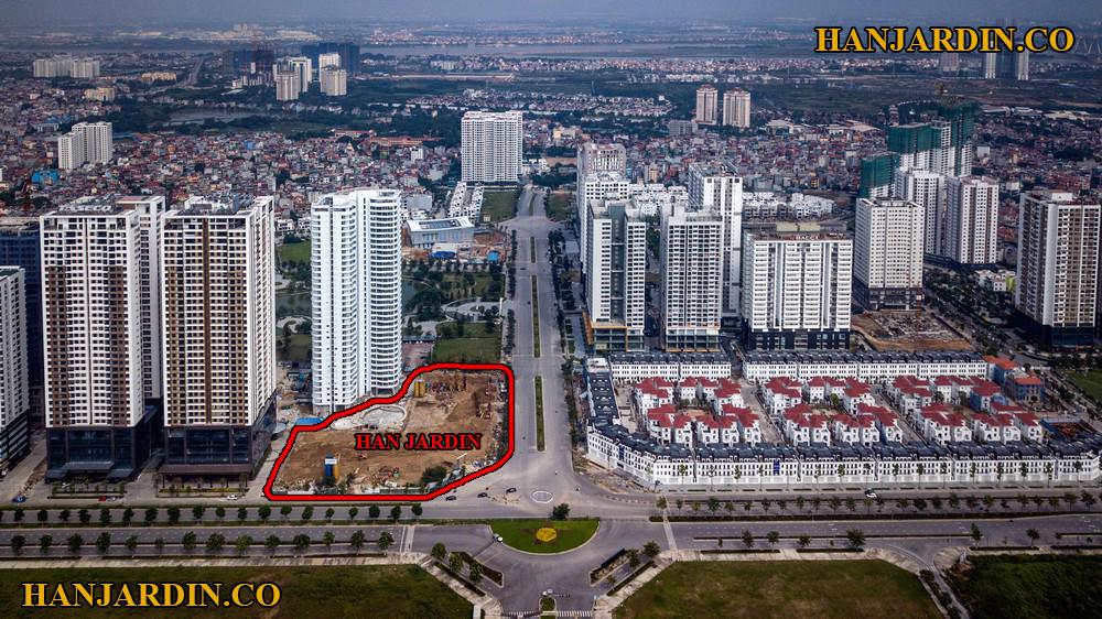 Vị trí của chung cư Han Jardin.