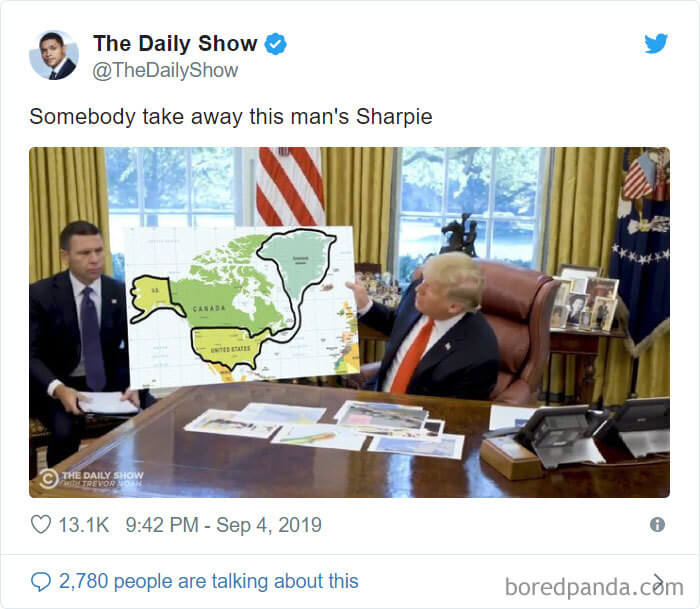 Trump Showed An Outdated Hurricane Dorian Map With Alabama Circled With Sharpie And Inspired 30 Epic Memes