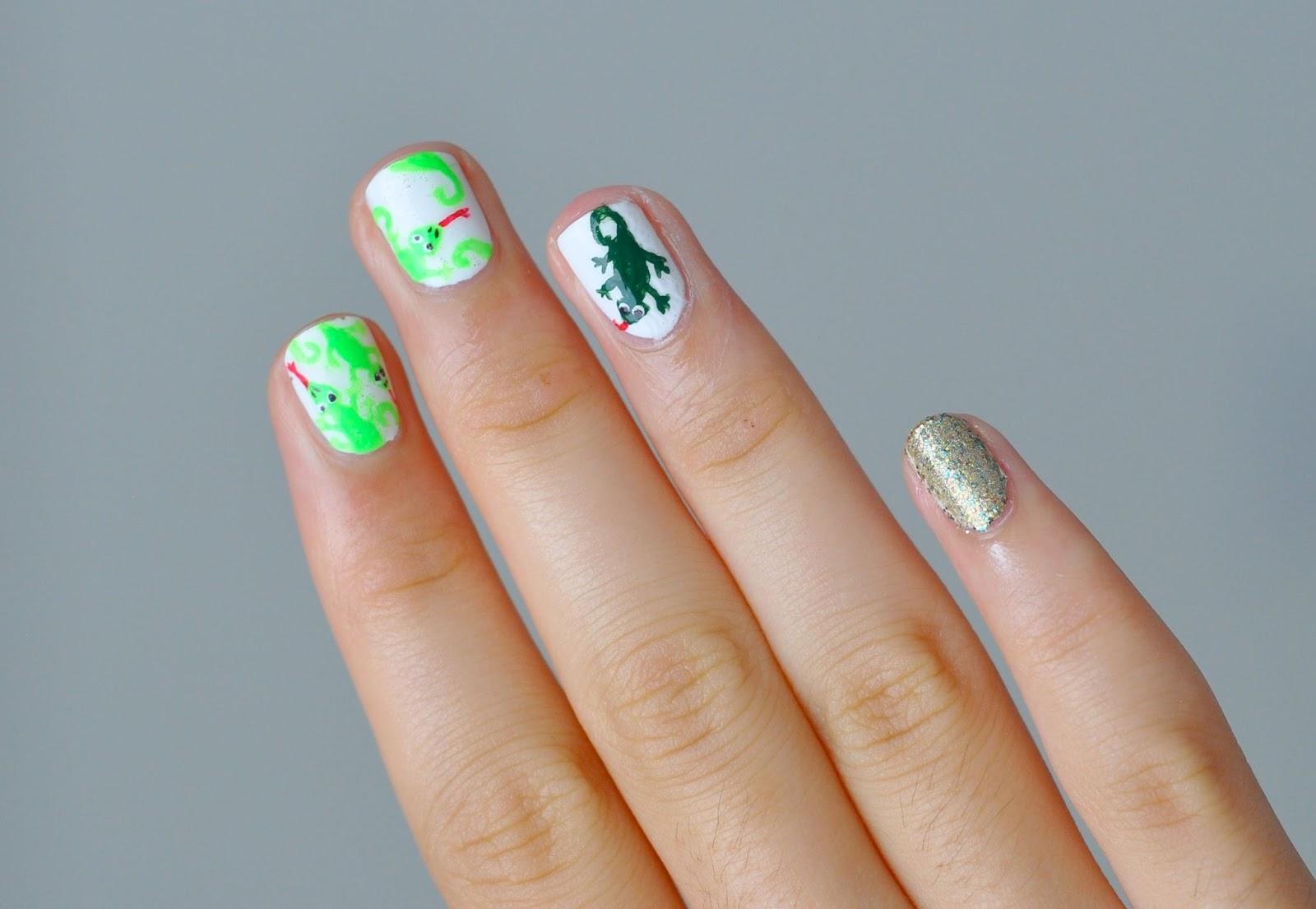 The Nail Snail: Lizard Nail Art & Tutorial