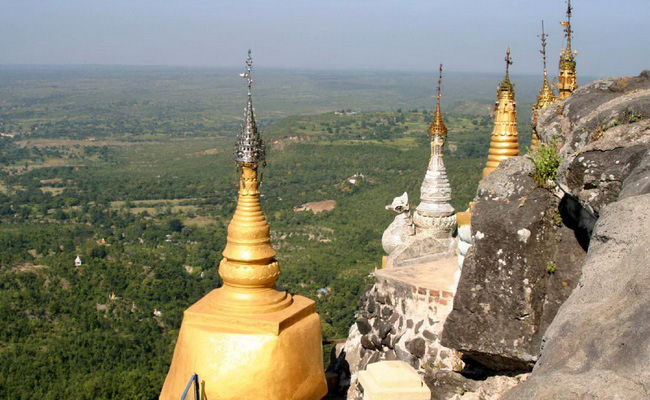 Xvlor.com Popa Taung Kalat Monastery in Mount Popa is Nat's home in Mandalay