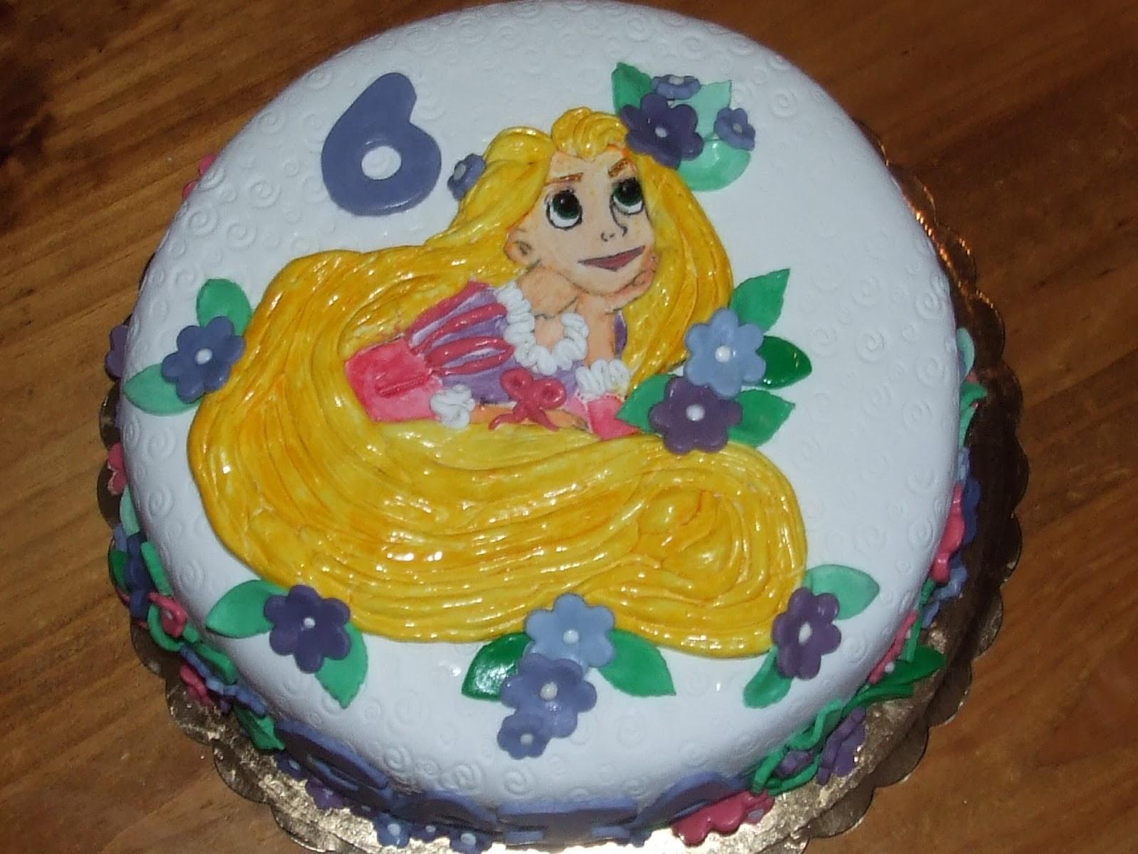 Favoloso I miei hobby: Torta Rapunzel per Gaia. BO97