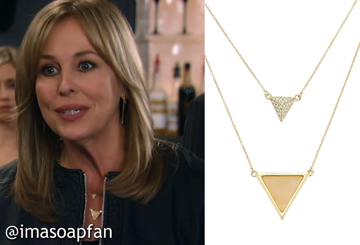 Laura spencers triangle pendant necklace general hospital lauras triangle pendant necklace see more house of harlow necklaces mozeypictures Gallery