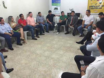 Márcio Jerry e os prefeitos do PCdoB-MA