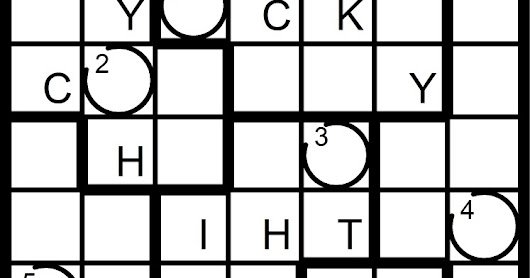 New Word Sudoku (Punnish Sudoku) Puzzles for Sunday, 7/23/2017