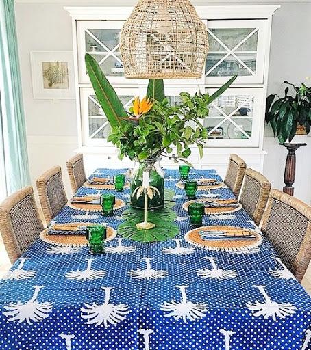 Palm Tree Tabletop Decor Idea