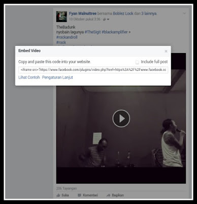 Pasang Video Facebook di Blog