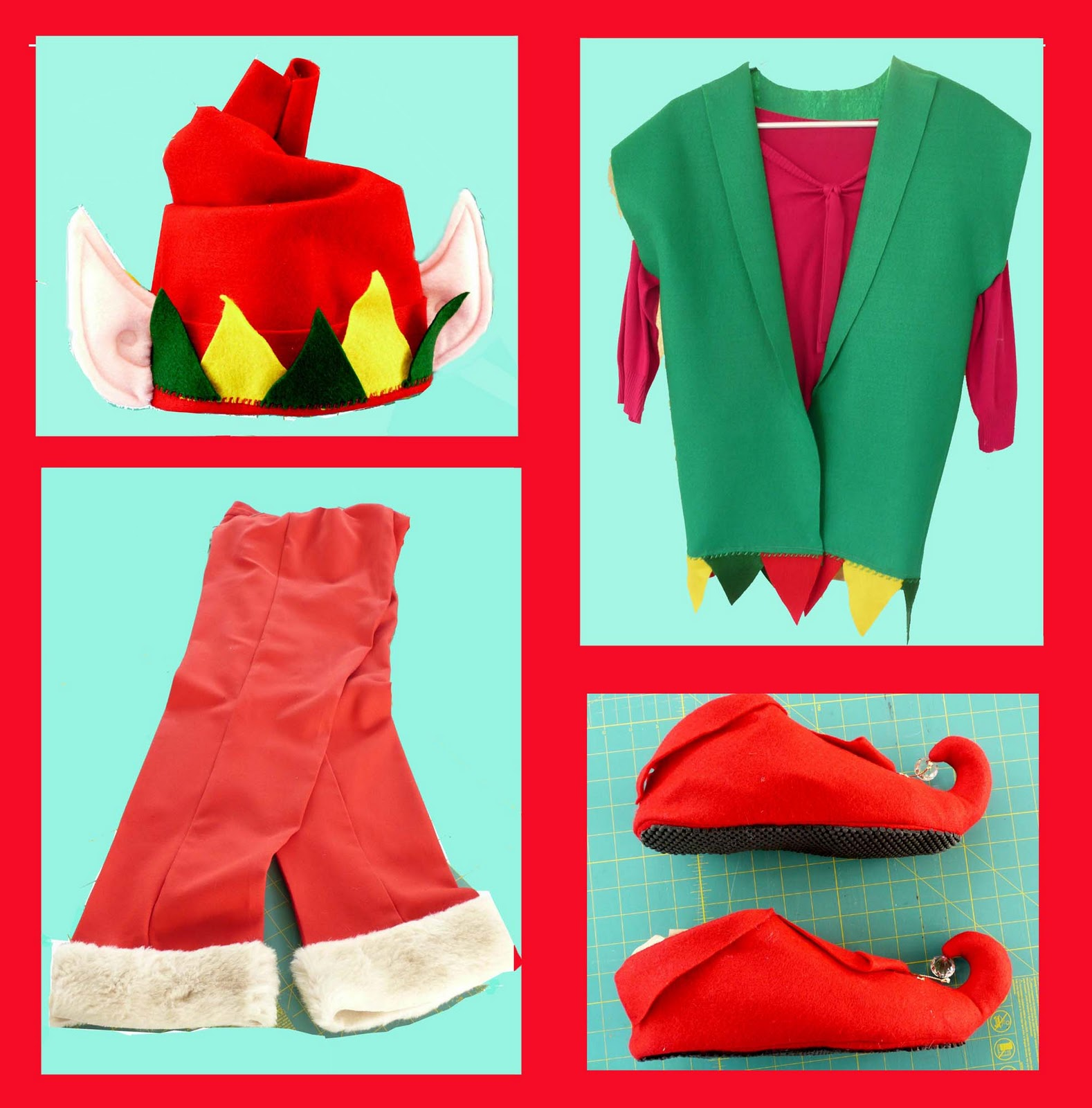 6f2f8a4564032 Elf Ears And Hat Template. Linda S Art Quilts Elf Costume For Adults Make  Your Own Pattern