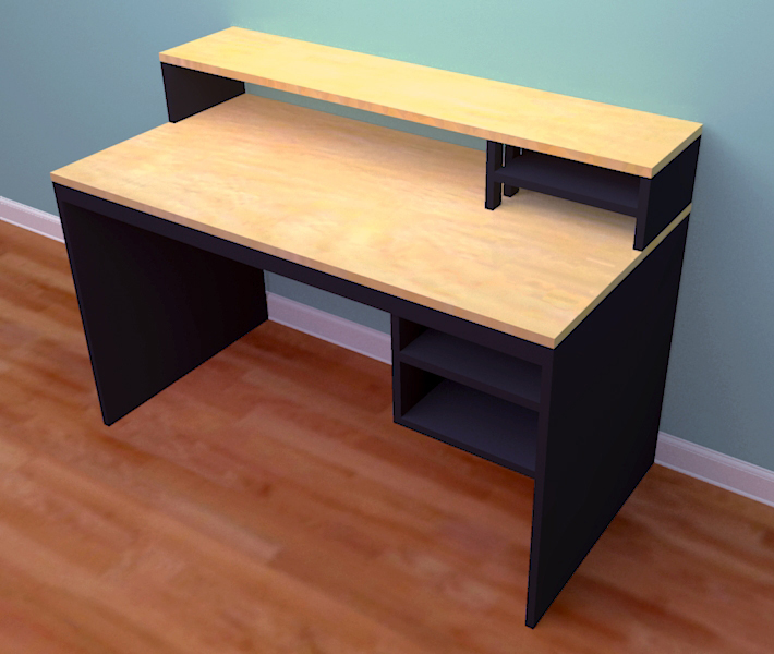 Computer Desk From 1 Sheet Of Plywood