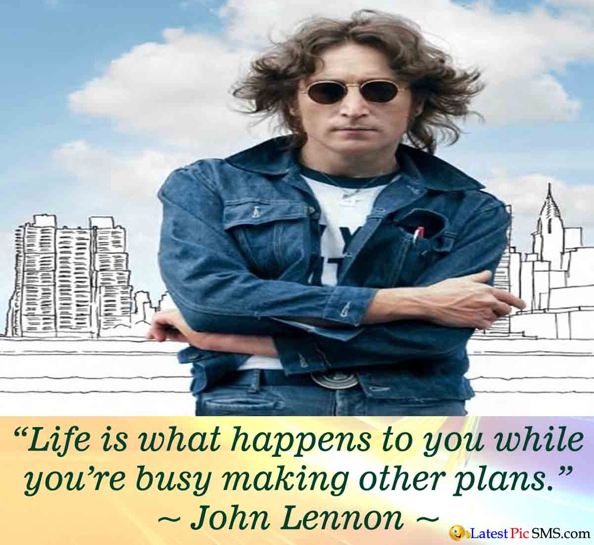 John Lennon life quote - Thoughts on Life Images for Whatsapp and Facebook