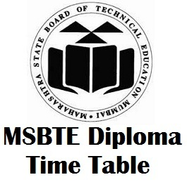 MSBTE Diploma Time Table 2017 Download