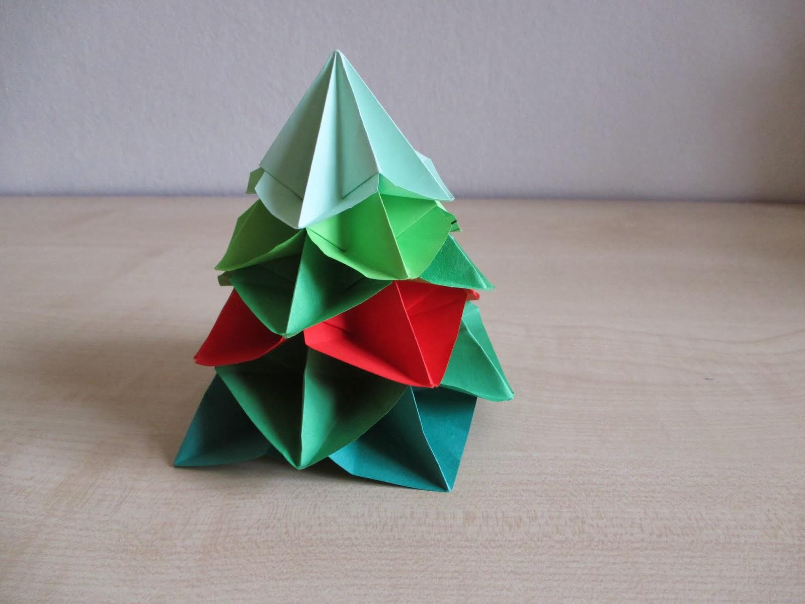 Vánoční stromeček origami - Na stejné vlně - photo#8