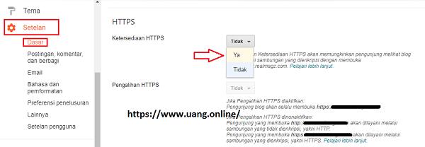 cara mudah mengaktifkan HTTPS pada blog custom domain