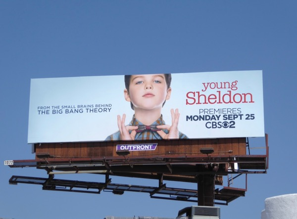 Young Sheldon series billboard