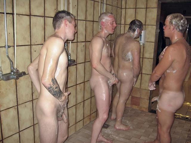 Straight man gay shower seen boomer amp chain 6