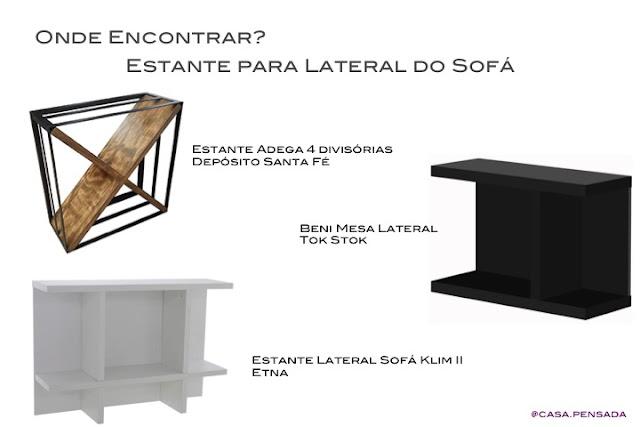 modelos estante lateral sofá