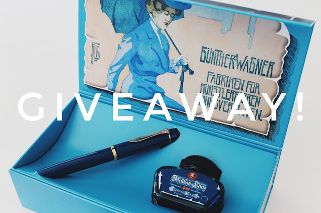 Pelikan M120 Iconic Blue fountain pen giveaway - The Pencilcase Blog