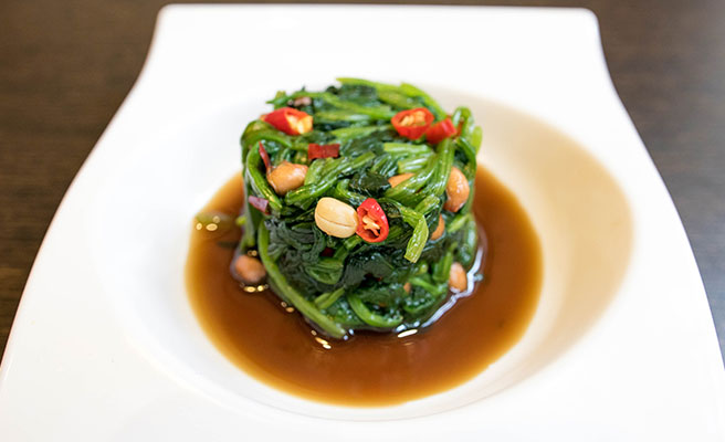 Aged Vinegar Spinach