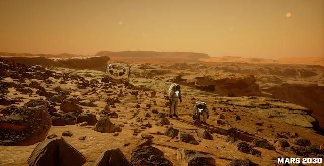 Mars 2030 VR image - exploration