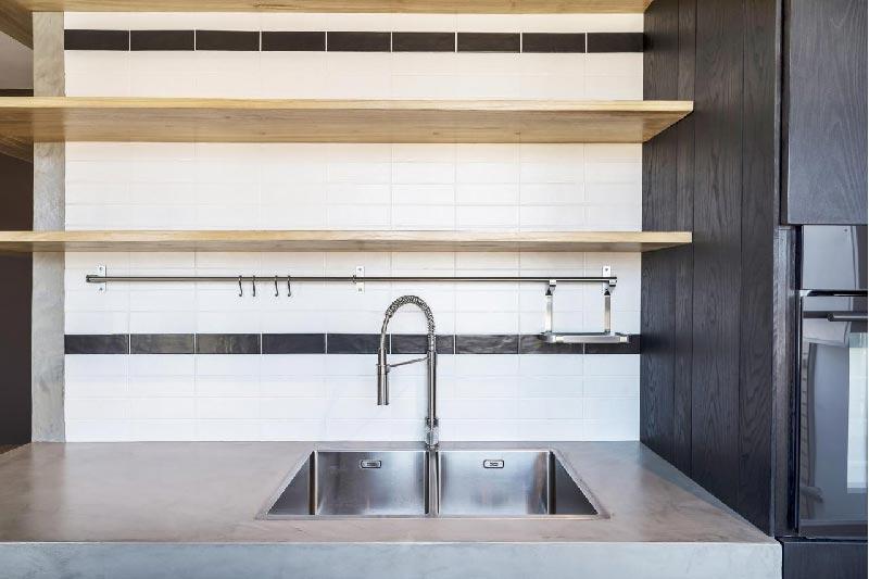 piano cucina finitura cemento