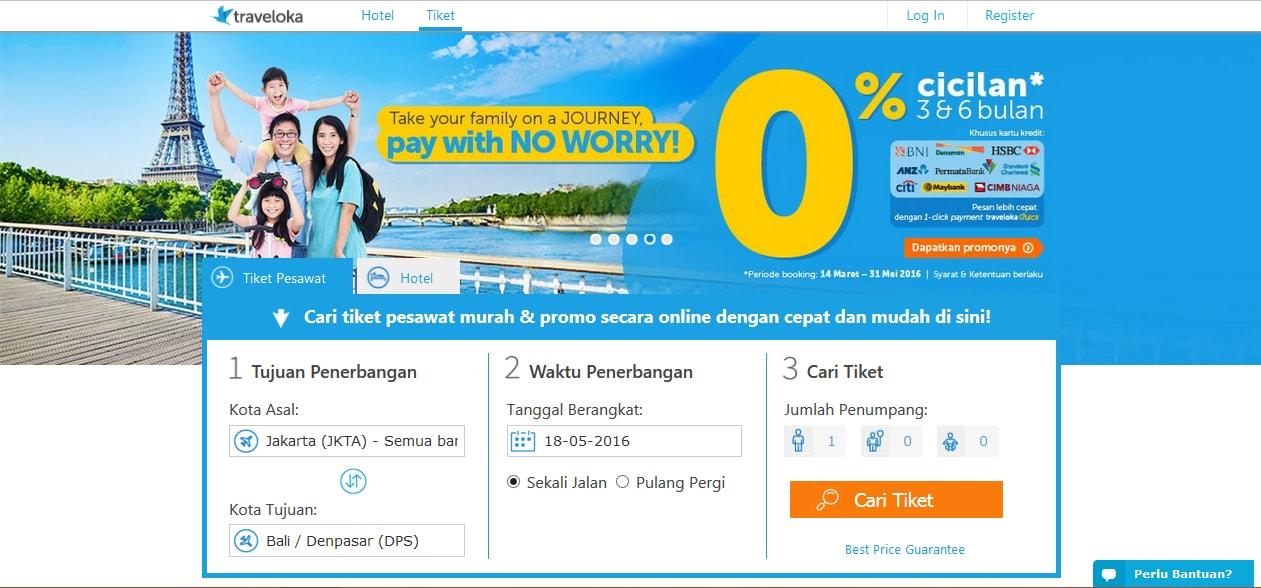 Temukan Promo  Harga Tiket Pesawat Paling Murah Hanya di Traveloka.com