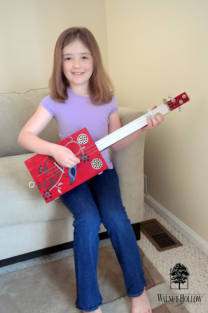 DIY Keepsake Box Guitar by Dana Tatar for Walnut Hollow