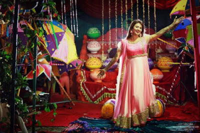 Divyanka Tripathi wedding sangeet outfit, Divyanka Tripathi real wedding pics