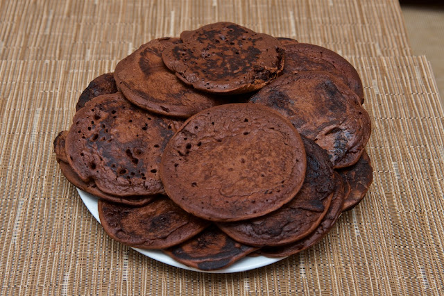 Pancakes - cacao van houten - breakfast - cooking - chocolate - cocoa