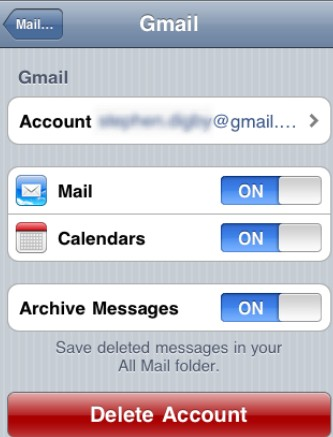 Digbys Help: iPhone/ iPad: Sync to Gmail contacts using