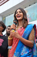 Puja Hegde looks stunning in Red saree at launch of Anutex shopping mall ~ Celebrities Galleries 126.JPG