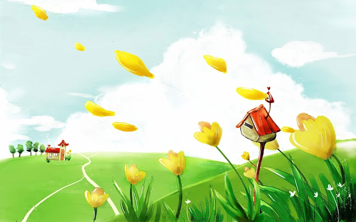 Digital Drawing Widescreen HD Wallpaper 3