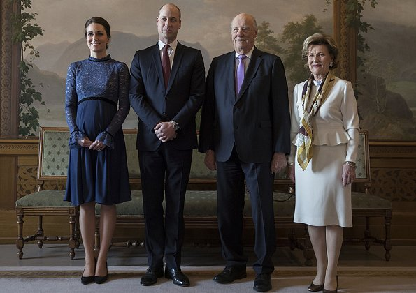 Kate Middleton, Prince William, King Harald, Queen Sonja
