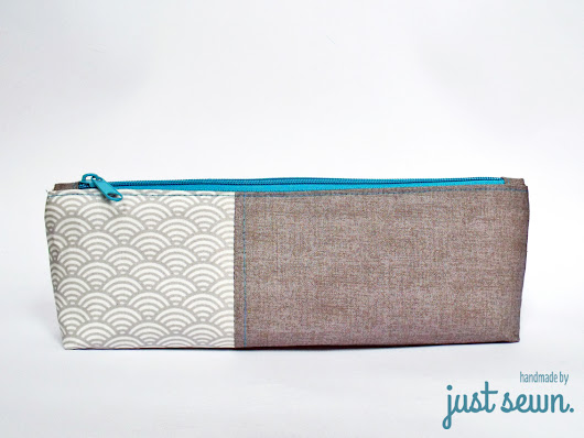just sewn.: Canvas Pencil Pouch