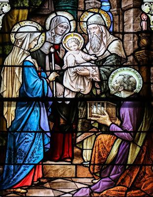 Imagem da apresentação de Jesus Cristo no templo, vitral, #1