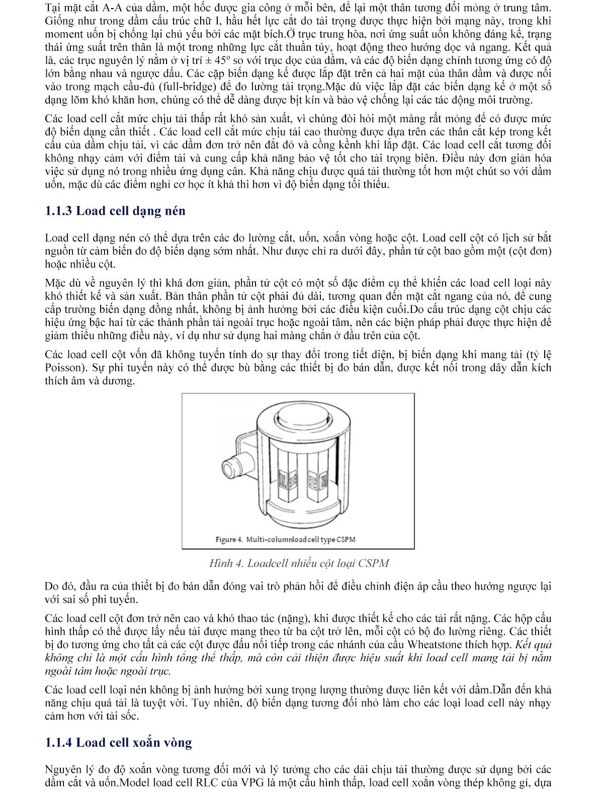 Lưu ý kỹ thuật về Load cell và module cân điện tử (tt) 3