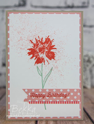 Pretty Floral Birthday Card made with Touches of Texture Stamp Set from Stampin' Up! UK