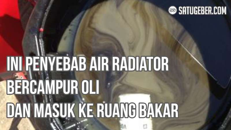 foto air radiator campur oli